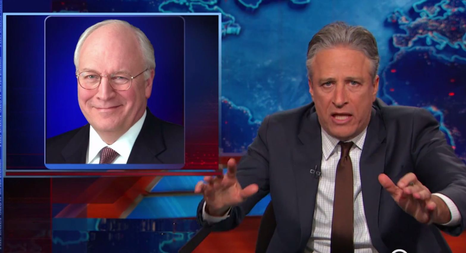Useful piece cheney dick john stewart theme